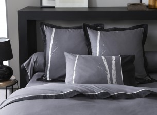 linge de lit brod bambou percale de coton la malle des anges. Black Bedroom Furniture Sets. Home Design Ideas