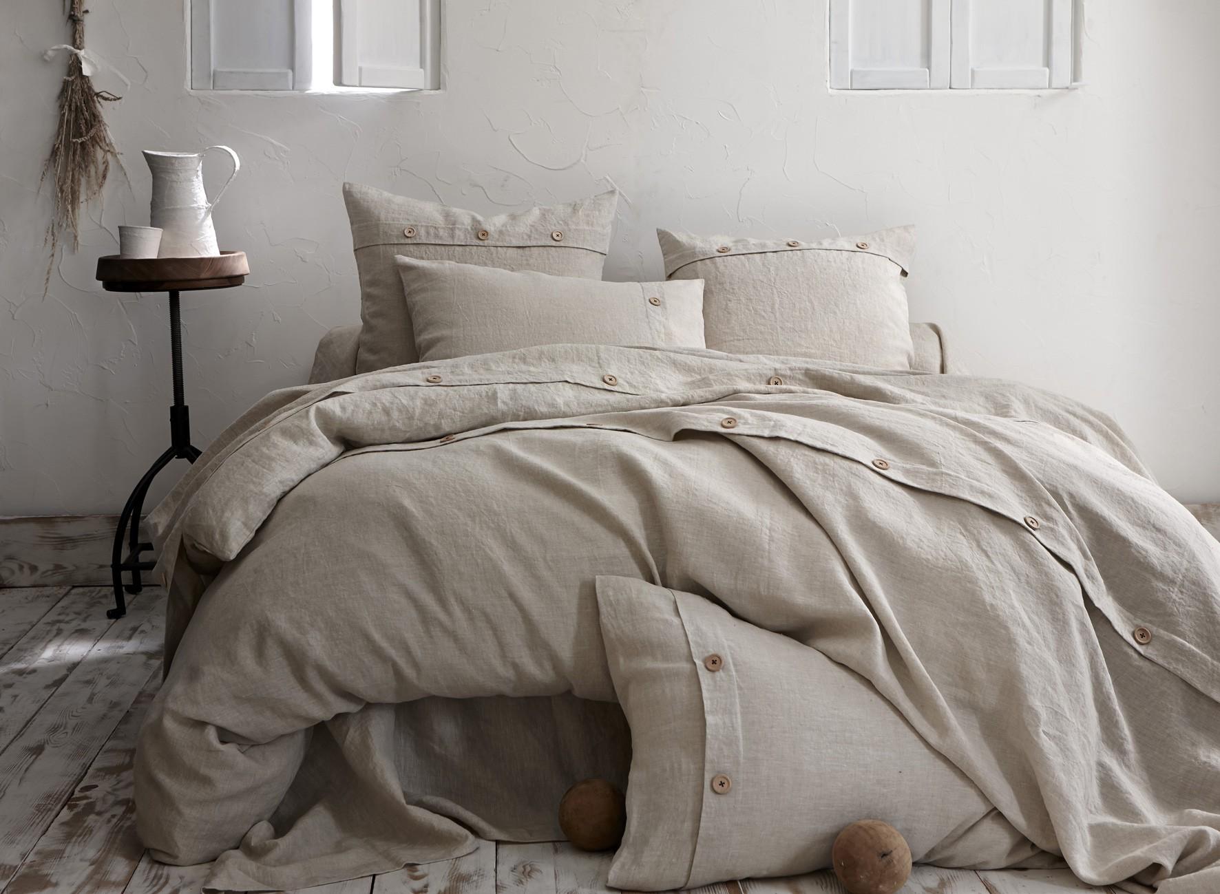 taie de traversin lin naturel taille 86x185cm. Black Bedroom Furniture Sets. Home Design Ideas