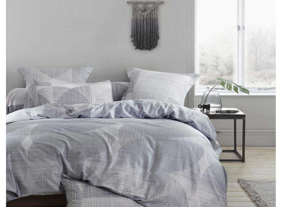 linge de lit brod perle oc ane percale de coton la malle des anges. Black Bedroom Furniture Sets. Home Design Ideas