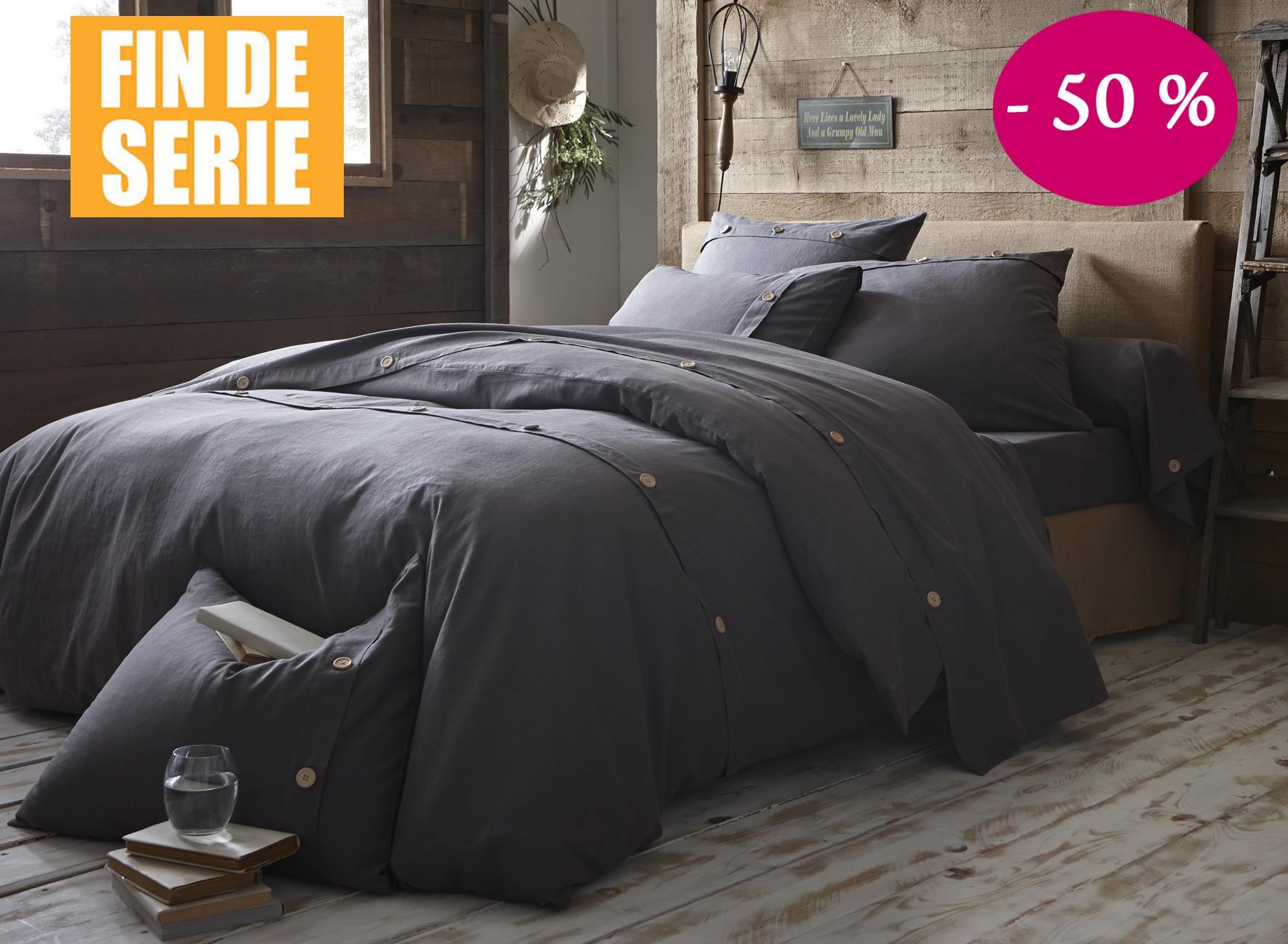 55 % Lin Français 45 % Coton
